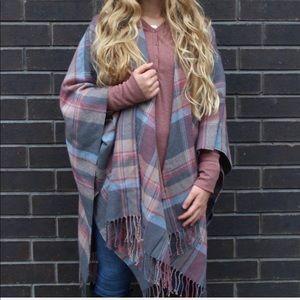 Cest Moi madras plaid blanket scarf